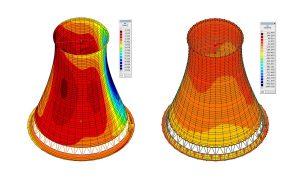 Vasbeton szerkezetű hűtőtorony megerősítése - vasbeton szerkezet