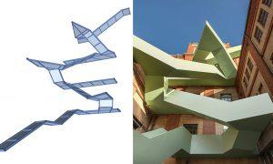 Werkraum Warteck PP lépcső - vasbeton szerkezet